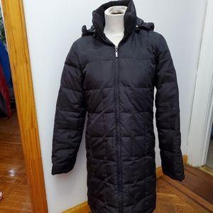 Long hooded black coat